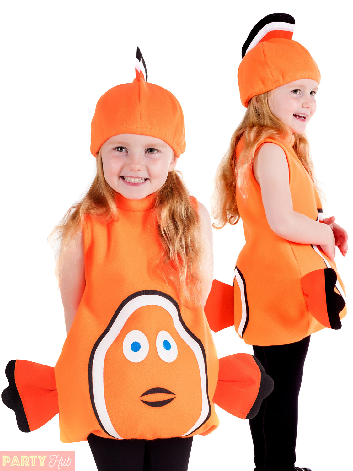 Childs Toddler Clown Fish Costume Boys Girls Nemo Fancy Dress Kids