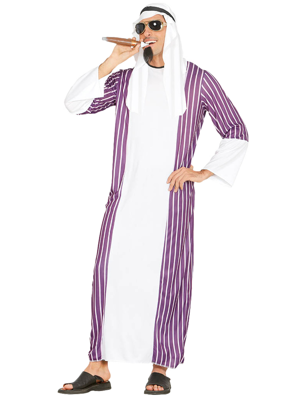 Mens arab costume adult sheik sultan fancy dress arabian egyptian transform yourself into an arabian prince with this mens arab costume perfect for a stag do solutioingenieria Gallery