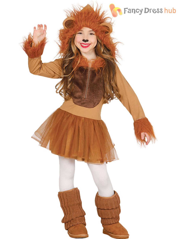 Kids Lion Costume Boys Girls Zoo Animal Fancy Dress Jungle