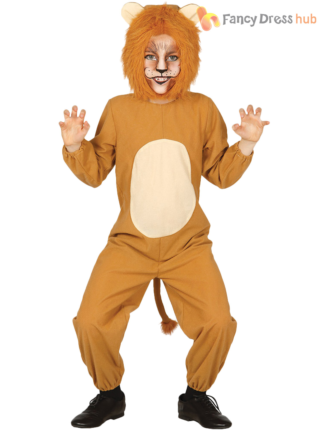Boys Child Tiger Kids Fancy Dress Up Funky Jungle Zoo Animal Costume Girls New
