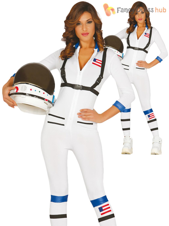 1dcd4276c7ce Adults Astronaut Costume Mens Ladies Space Man Suit Fancy Dress ...