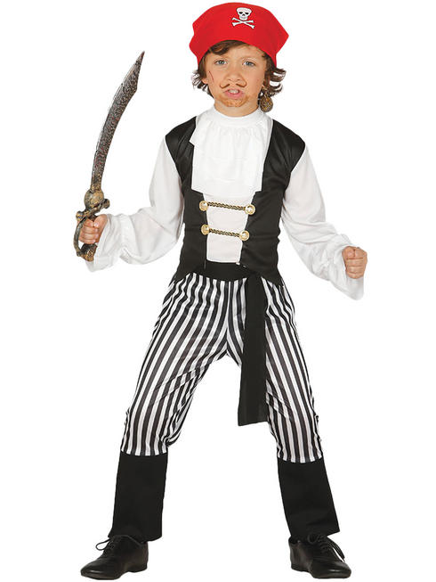 Boy's Striped Pirate Costume