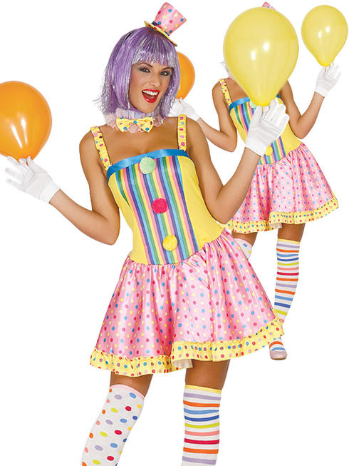 Ladies Clown Costume