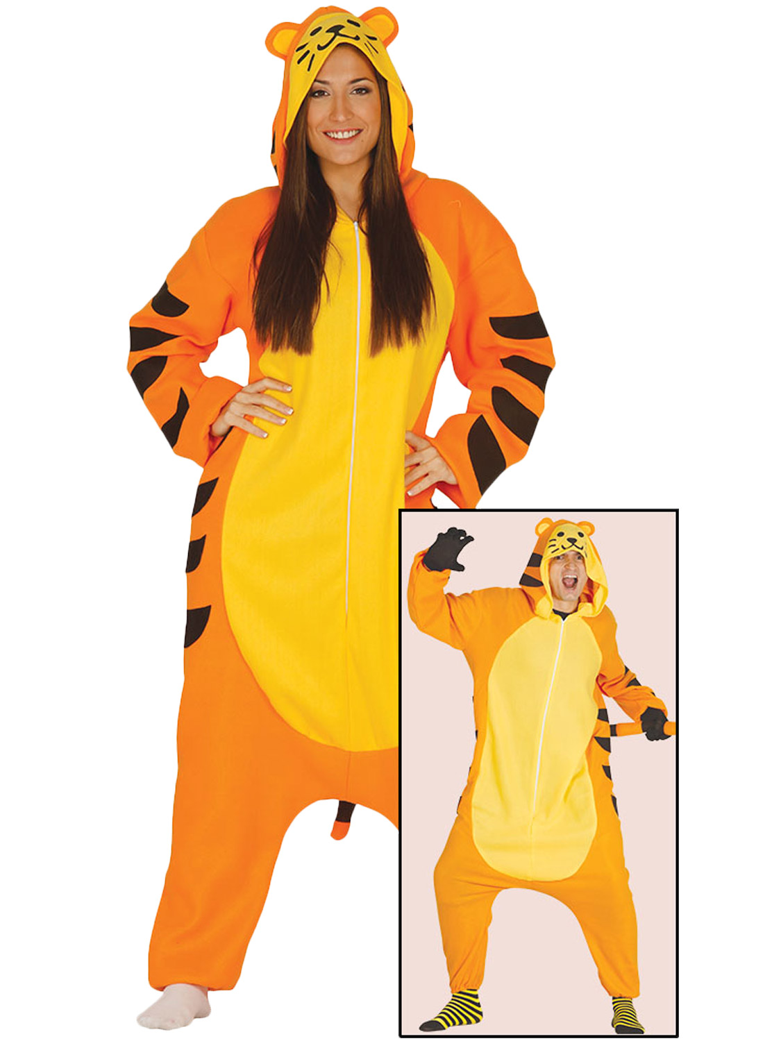 Adults tiger costume mens ladies jungle zoo animal fancy dress transform yourself into a tiger with this adults jungle animal costume perfect for a hen stag party solutioingenieria Gallery