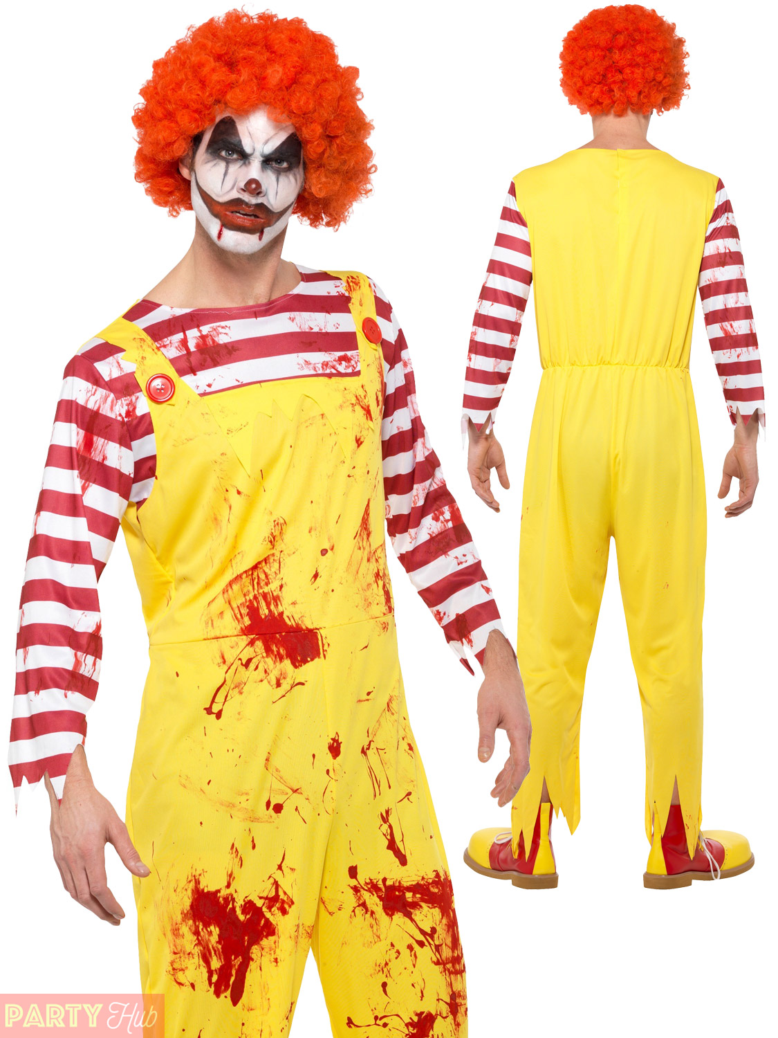 Halloween Clown.Details About Men Creepy Killer Clown Costume Halloween Scary Horror Ronald Yellow Fancy Dress
