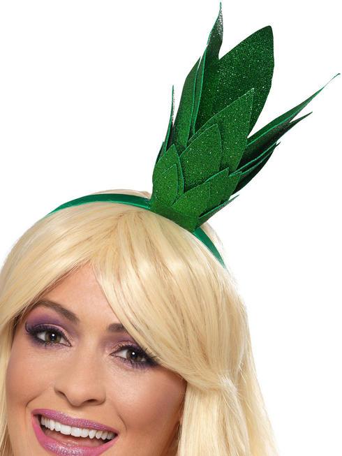Adult's Pineapple Stalk Glitter Headband