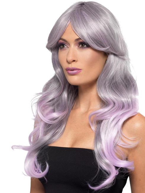 Ladies Unicorn Grey Wig