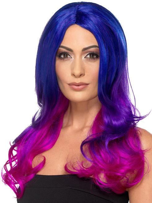 Ladies Fashion Ombre Wig - Purple