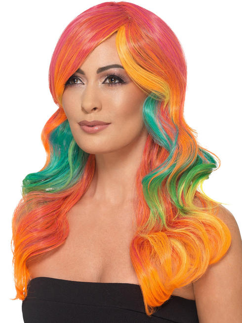 Ladies Fashion Ombre Wig - Orange