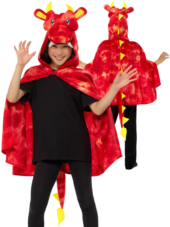 Kids Dragon Costume Fairy Tale St Georges Day Fancy Dress Boys Girls 7-9 New
