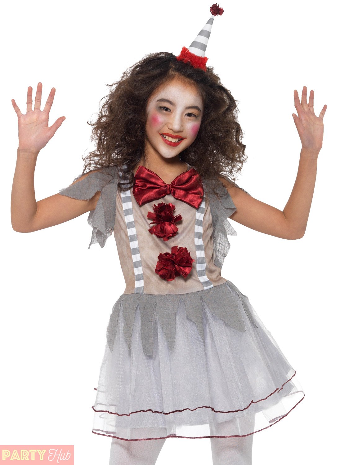 childs vintage clown costume boy girl it scary halloween horror