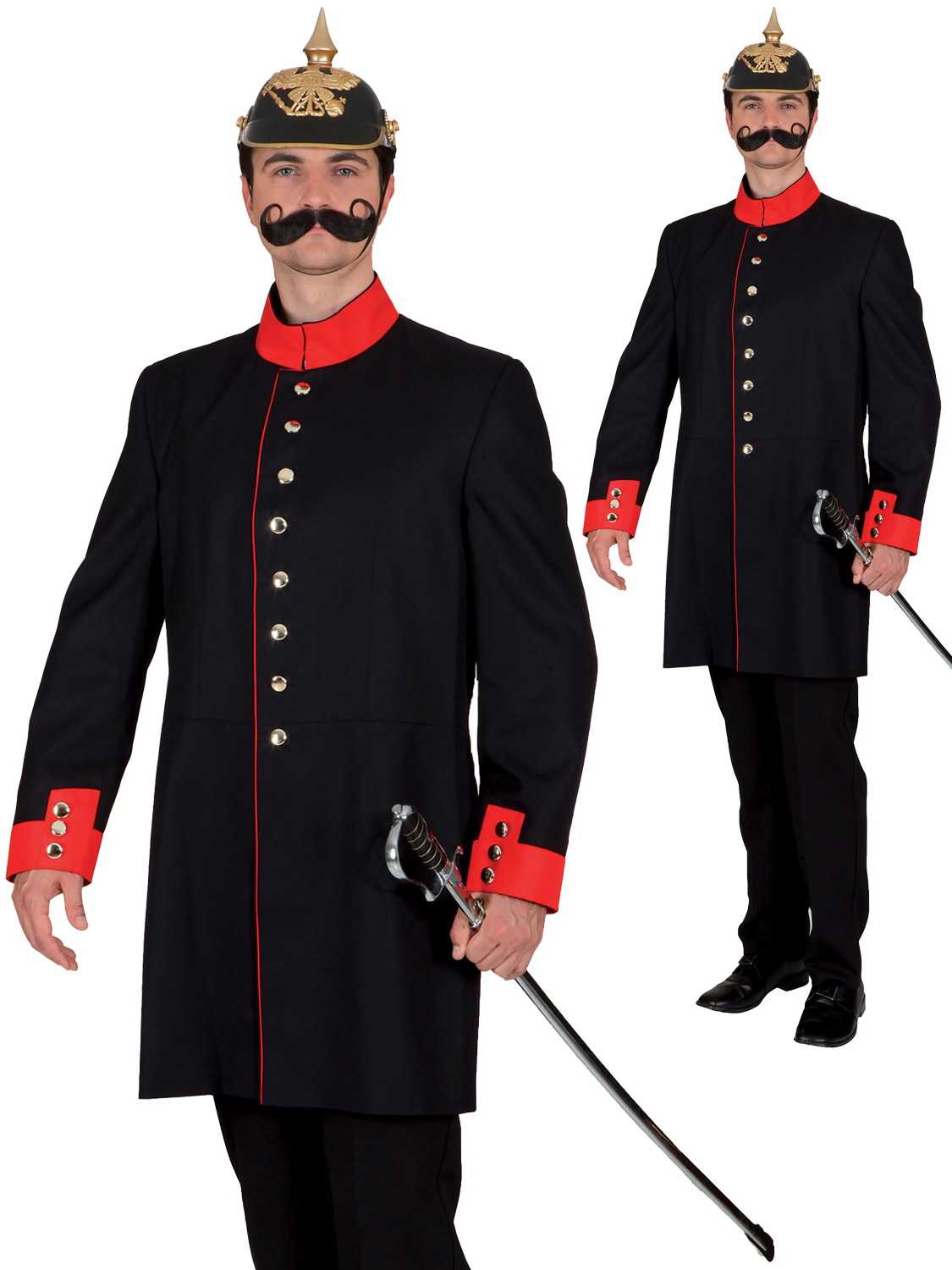 Mens german soldier costume adults world war fancy dress prussian transform yourself into a german soldier with this world war i themed costume perfect for historic events solutioingenieria Image collections