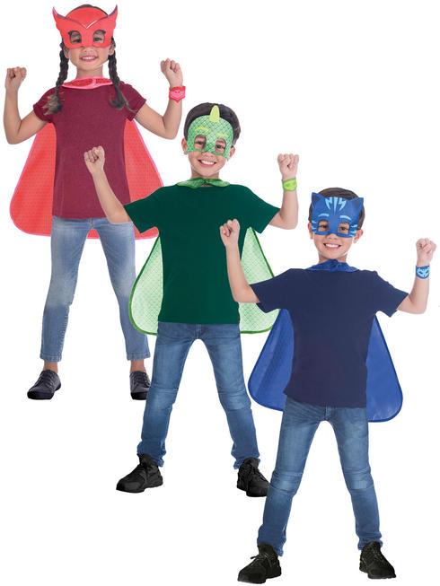 Childs PJ Masks Cape + Mask Boys Girls Superhero Fancy Dress Costume Kids Book