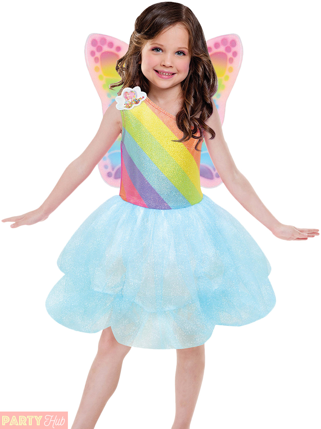 Girls Barbie Costume Childs Cloud Tutu Rainbow Magic Fancy Dress ...