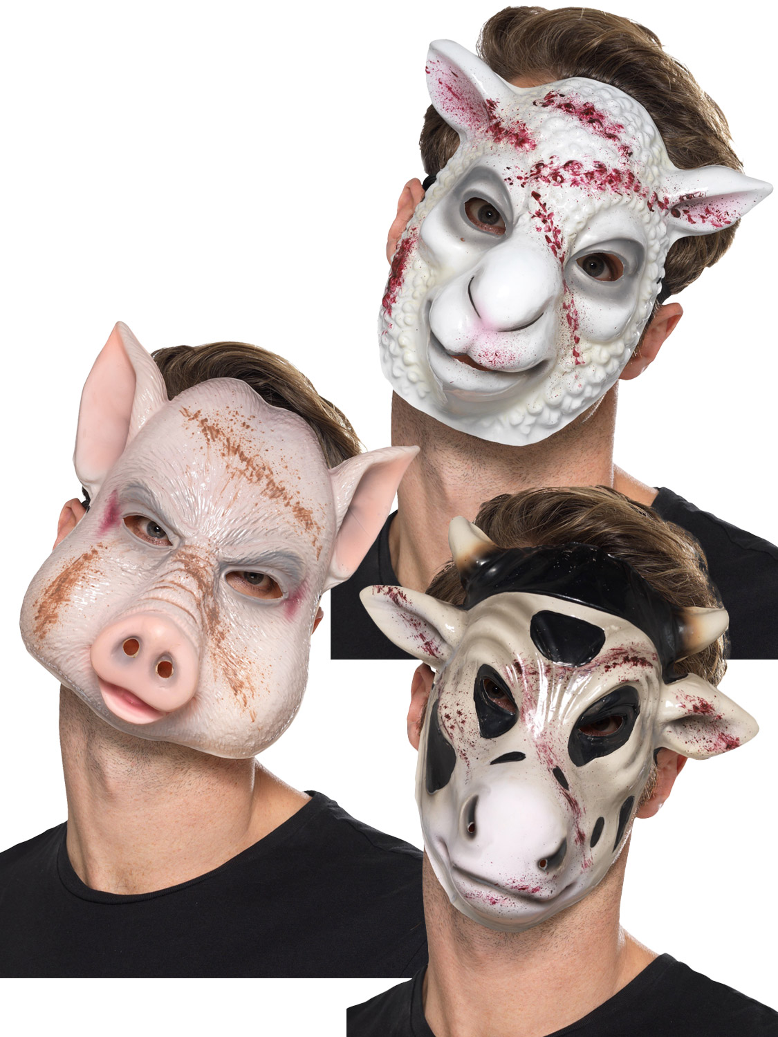 Kostüme EVIL SHEEP KILLER MASK FANCY DRESS ACCESSORY HALLOWEEN