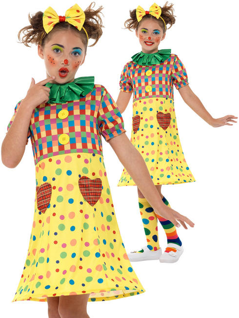 Girl's Clown Costume