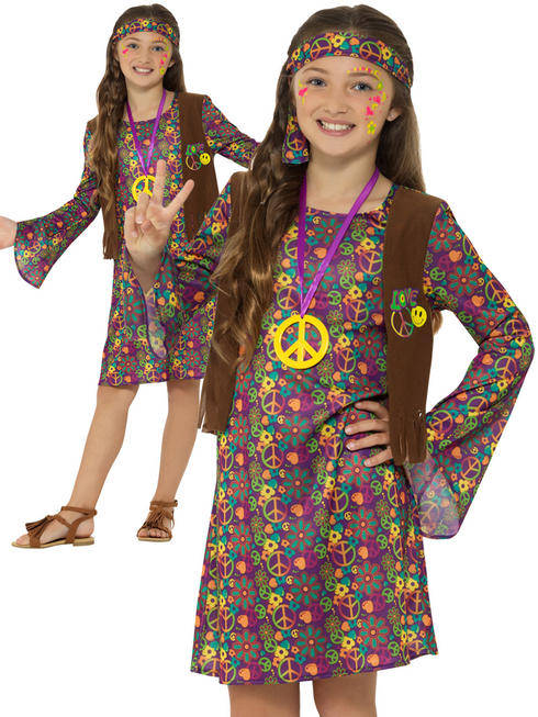 Girl's Hippie Girl Costume