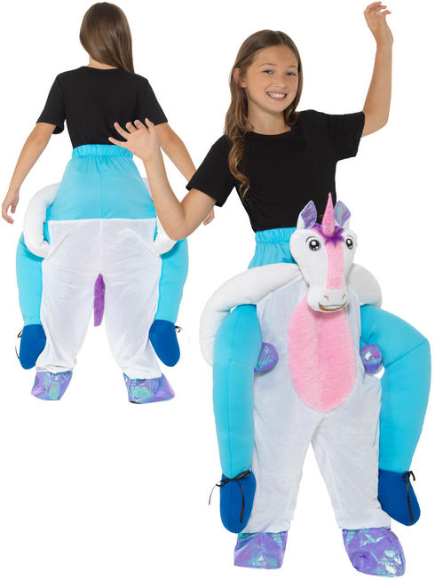Girl's Piggyback Unicorn Costume