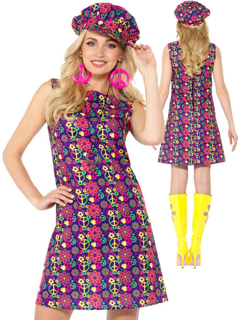 Ladies 1960S Psychedelic Cond Costume