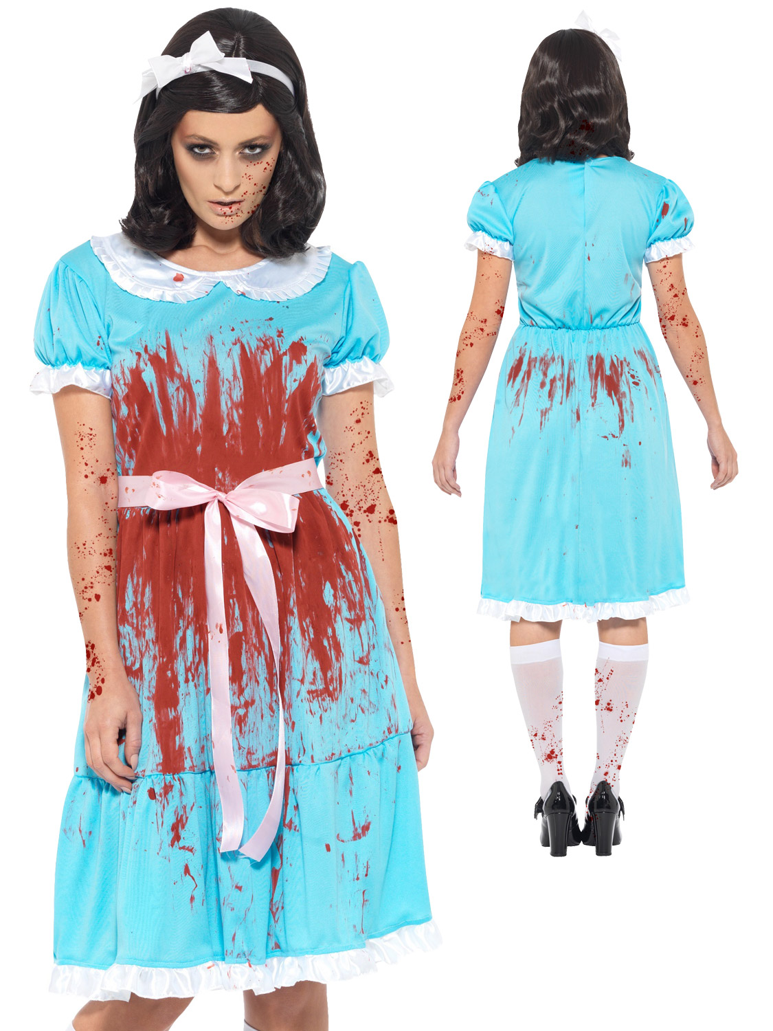 ladies the shining costume evil twin sister fancy dress zombie