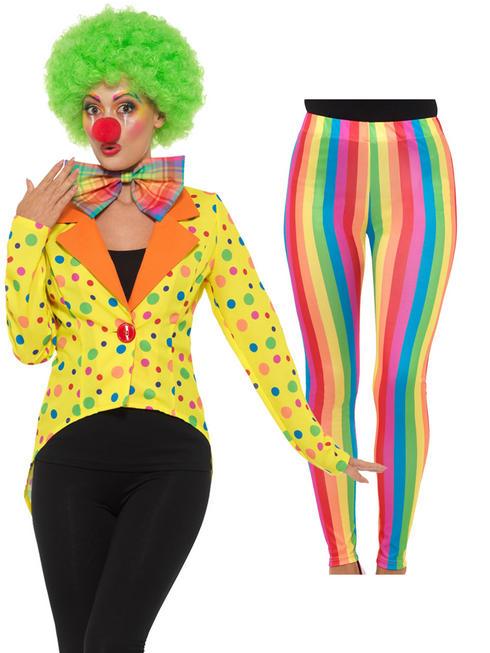 Ladies Colourful Clown Accessories