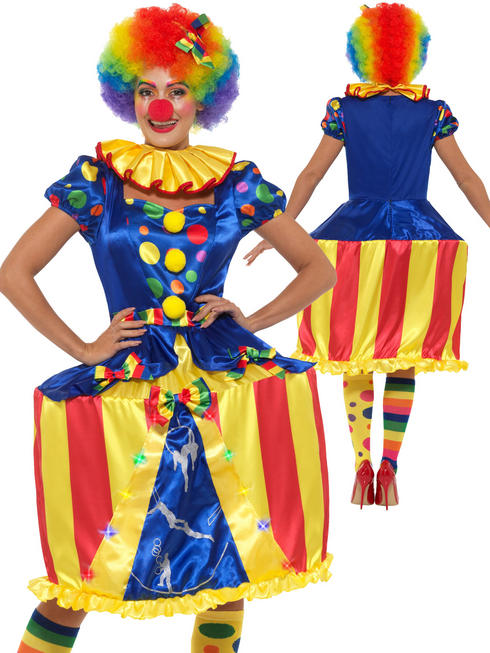Ladies Deluxe Light Up Carousel Clown Costume