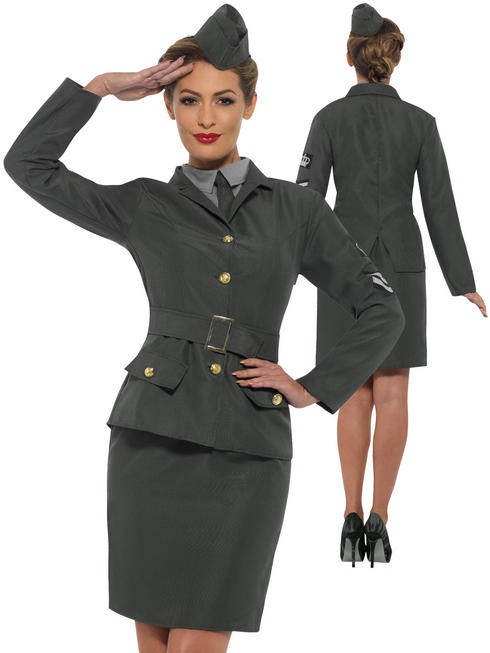 Ladies WW2 Army Girl Costume