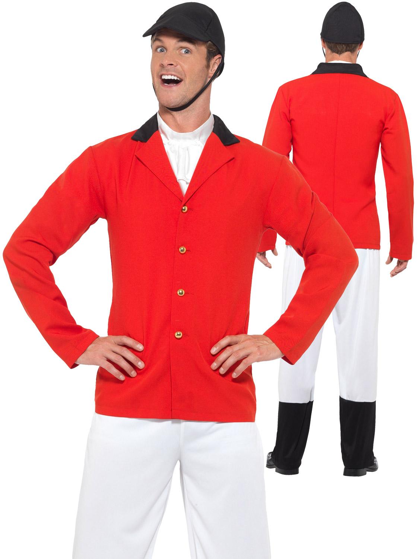 Wear It Red Fox Hunt Hunters Huntsman Fancy Dress Tails Jacket /& Bowler Hat