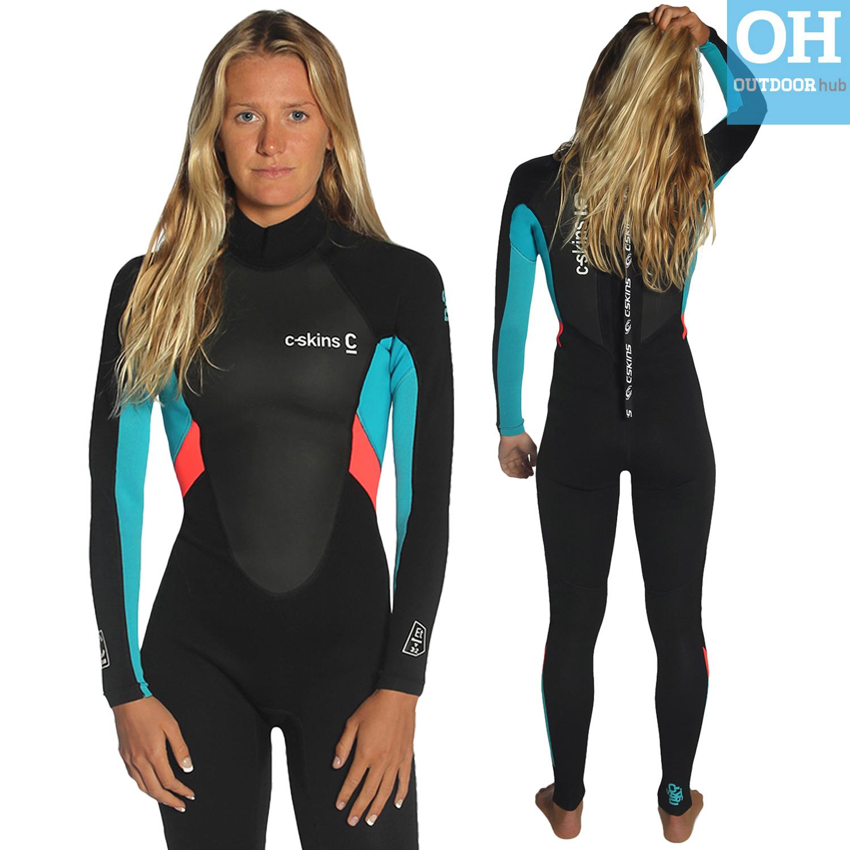 C-Skins Womens Element 3 2mm Full Length Neoprene Surf Wetsuit ... d54ffddbb