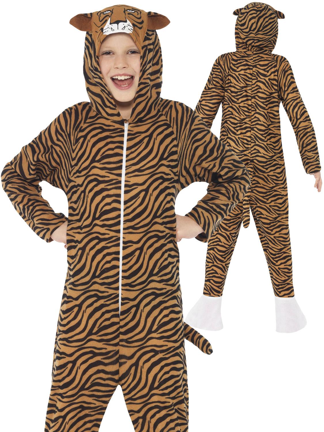 CK1016 Tiger Costume Boys Girls Jumpsuit Jungle Zoo Animal Kids Book Week Outfit