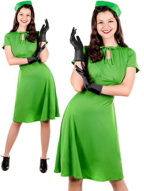 Ladies 40S Dress Costume