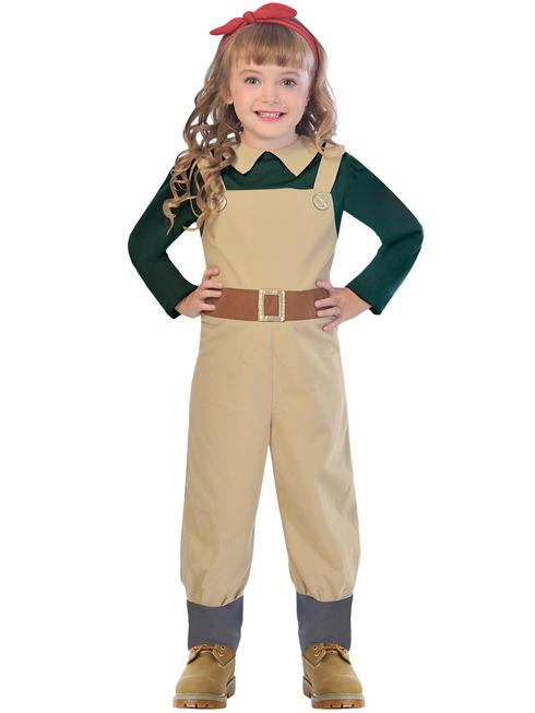 Girl's Landgirl Costume