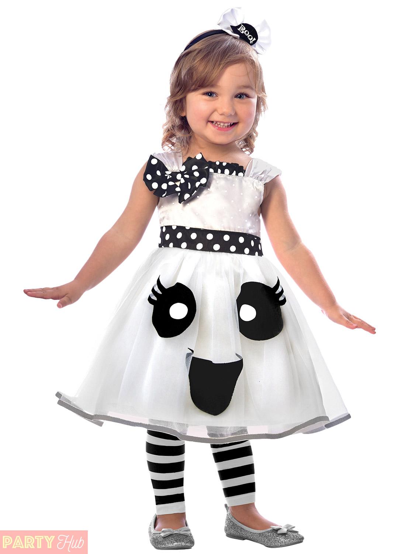 Girls-Cute-Spider-Monster-Pumpkin-Ghost-Costume-Child-  sc 1 st  eBay & Girls Cute Spider Monster Pumpkin Ghost Costume Child Halloween ...