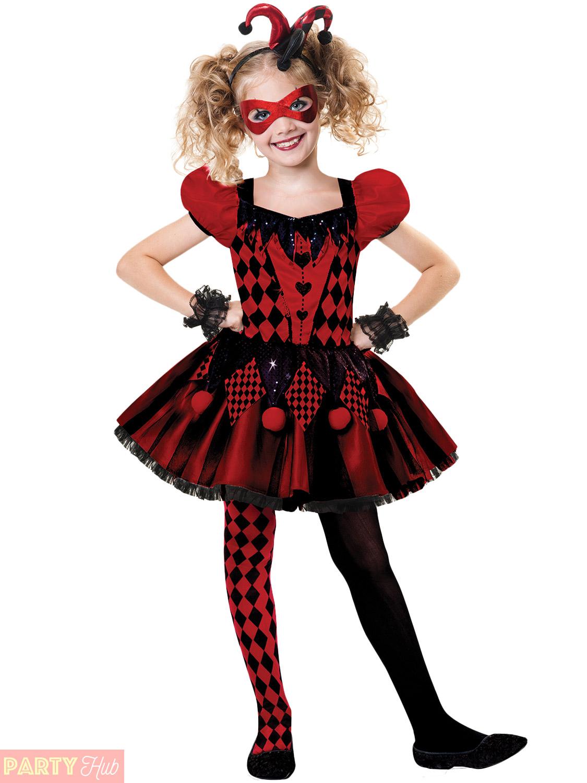 girl harlequin cutie costume child circus halloween fancy dress