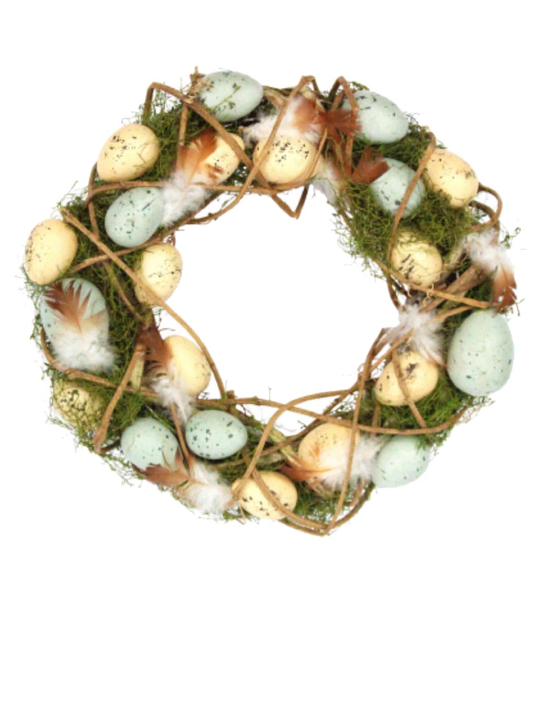Gisela-Graham-Primavera-Corona-Decoracion-de-Mesa-de-huevos-de-Pascua-Flores-Casa-Puerta-Floral miniatura 14
