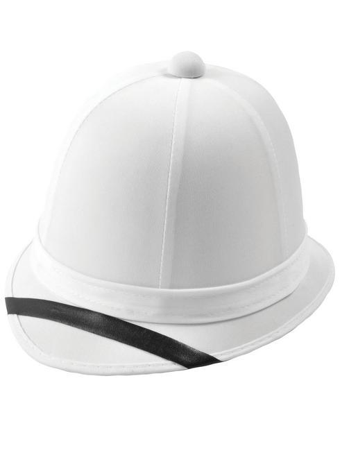 Mens White Pith Helmet