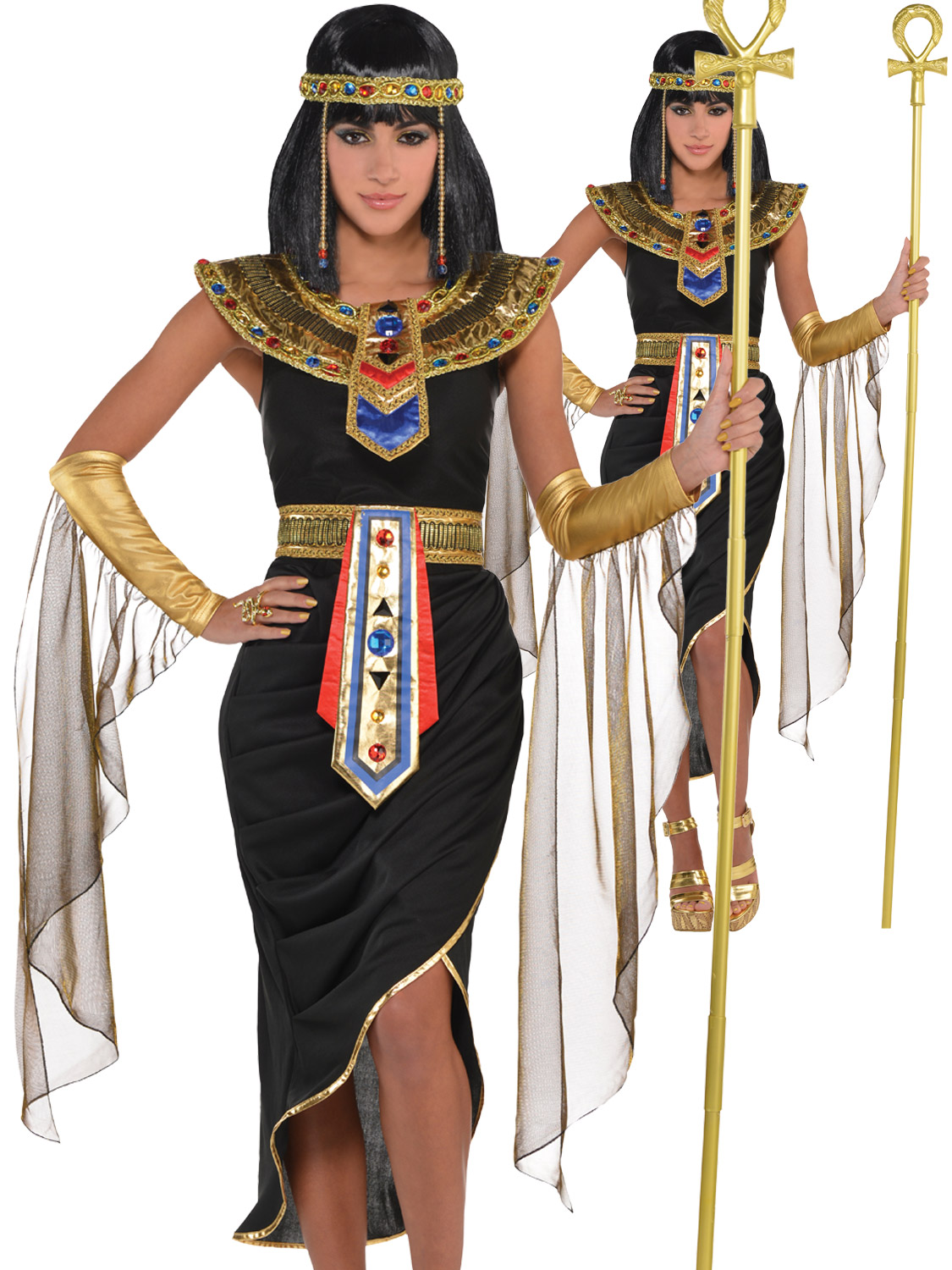 ADULT EGYPTIAN CLEOPATRA HISTORICAL LADIES MENS FANCY DRESS COSTUME PARTY OUTFIT