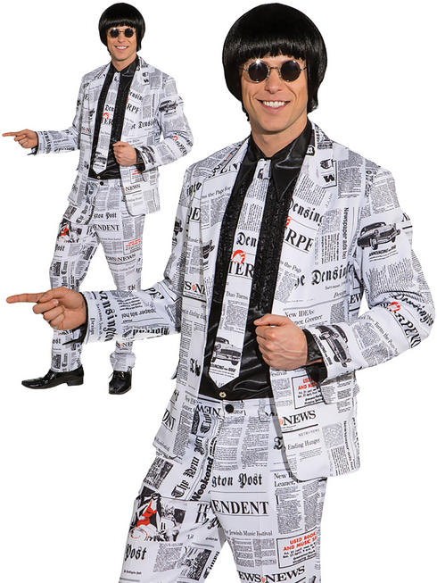 Mens Newspaper Suit Costume
