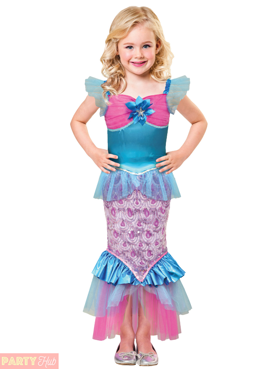 Girls-Sparkle-Little-Mermaid-Costume-Childs-Fancy-Dress-  sc 1 st  eBay & Girls Sparkle Little Mermaid Costume Childs Fancy Dress World Book ...