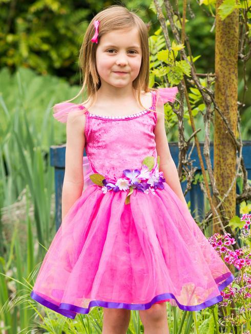 Girl's Cerise Flower Fairy Costume