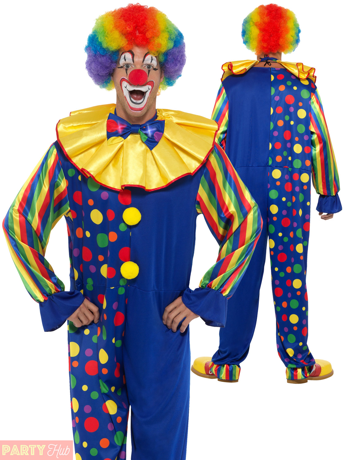 Comedy Circus Clown Costume Halloween Christmas Party Adult Unisex Fancy Dress