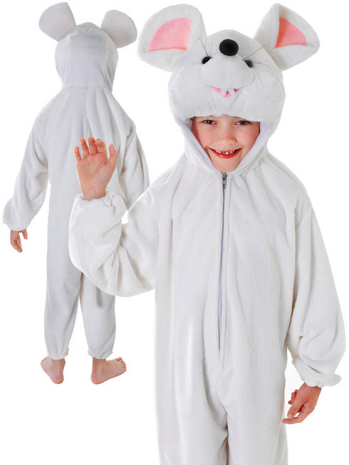 Child's White Mouse Costume