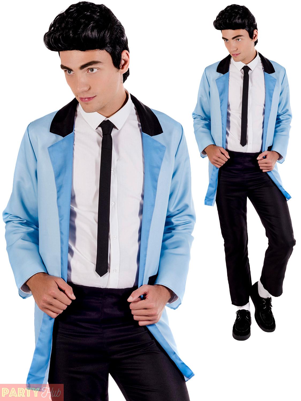 69a8efbfa512a Mens Teddy Boy Costume Adults 1950s Rock N Roll Fancy Dress 50s ...
