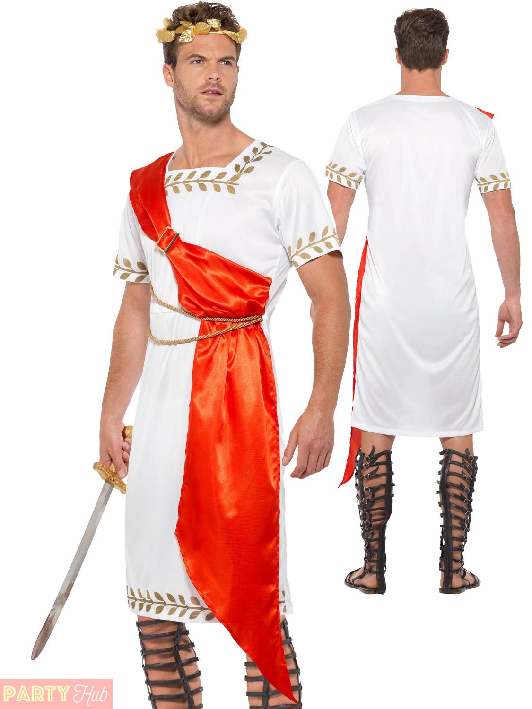 b3ce35cc6 Adult Ancient Roman Costume Ladies Mens Senator Greek Grecian Fancy ...
