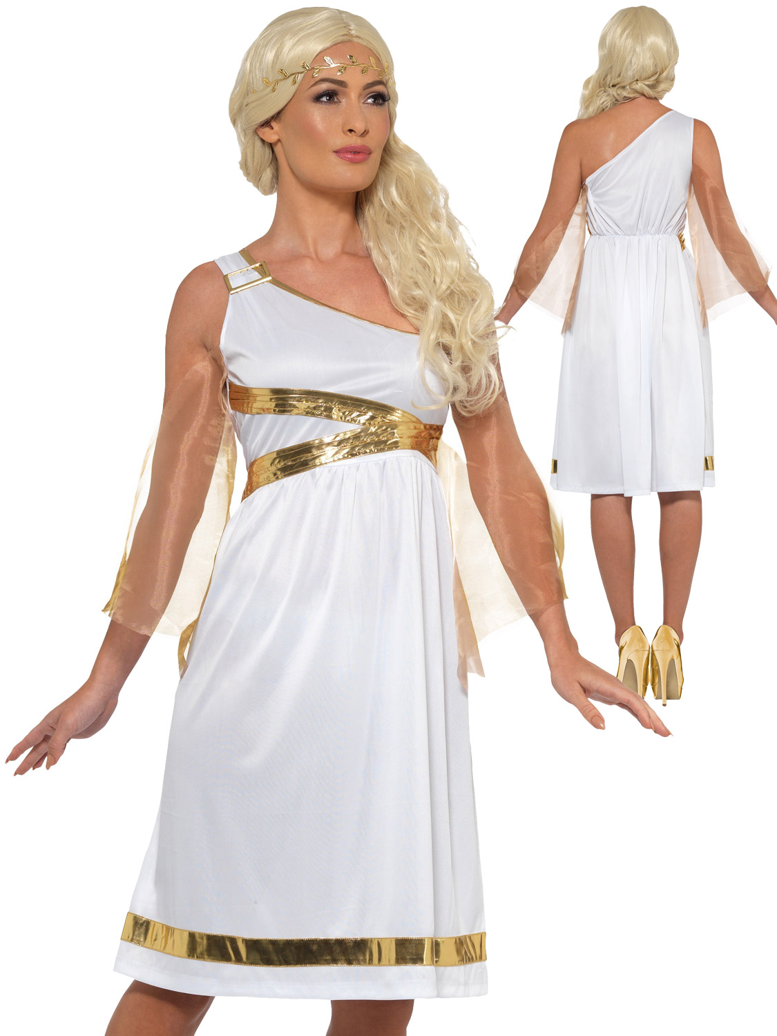 Ladies grecian costume adults toga roman greek goddess fancy dress transform yourself into a roman princess with this ladies grecian goddess costume perfect for toga themed parties solutioingenieria Images