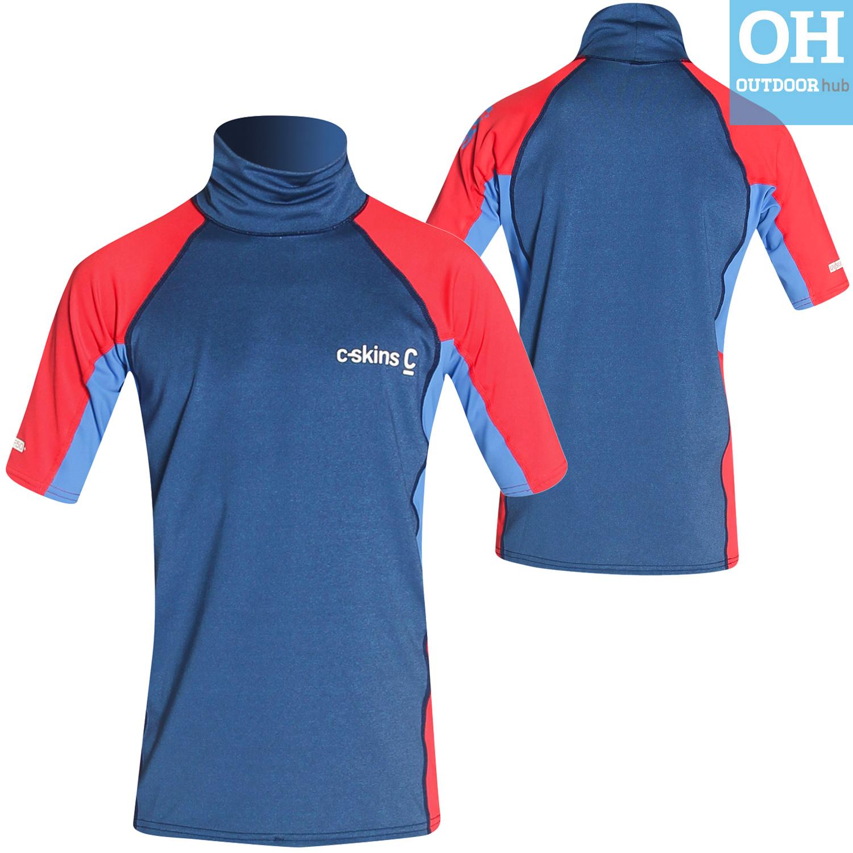 Boys-Girls-C-Skins-Rash-Vest-Guard-Short-Sleeve-Kids-UV-50-Protection-Swim-Top thumbnail 18