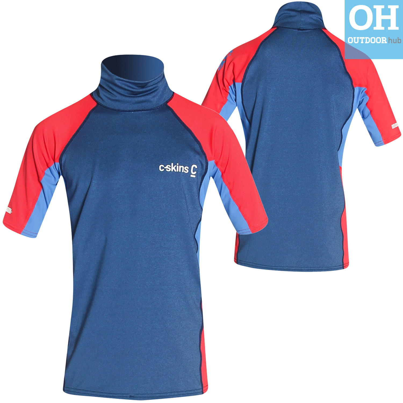 Boys-Girls-C-Skins-Rash-Vest-Guard-Short-Sleeve-Kids-UV-50-Protection-Swim-Top thumbnail 19