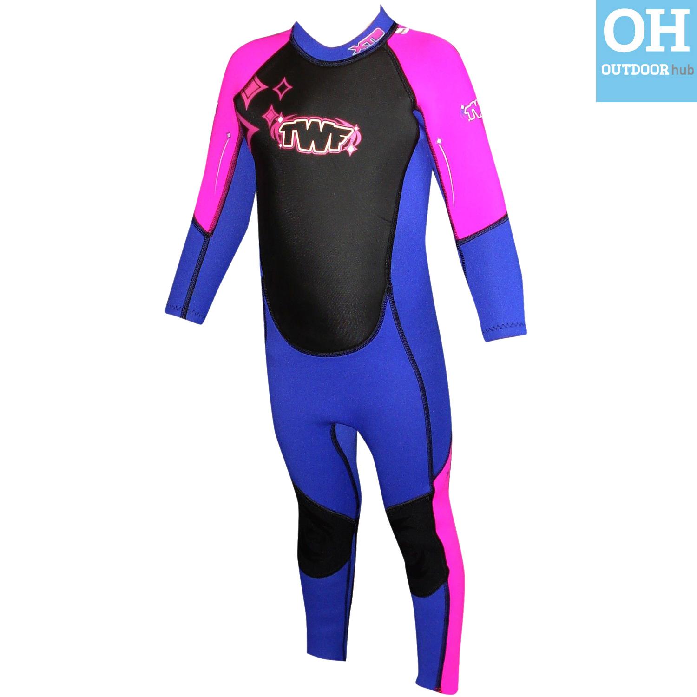 TWF-3mm-Kids-Full-Length-Wetsuit-Childs-Boys-Girls-Beach-Swim-Toddler-Watersport thumbnail 17