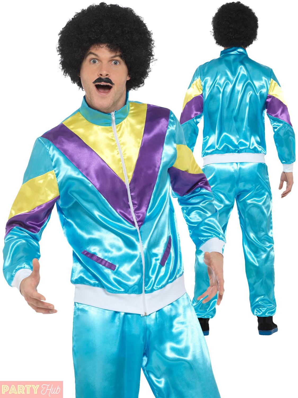 Scouser 80s Shell Suit 1980s Tracksuit Mens Ladies Fancy Dress Costume Scouser