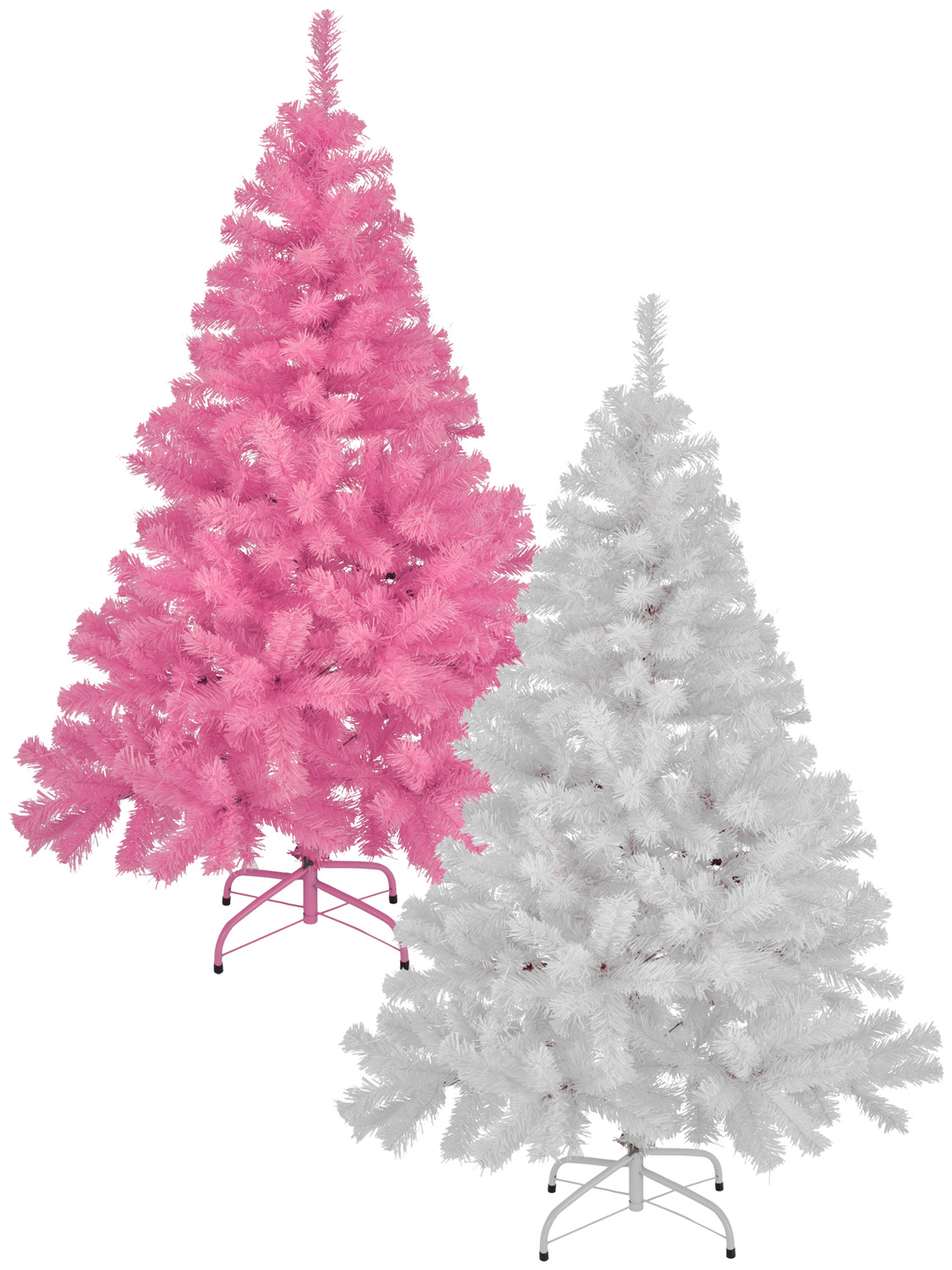 Pink Artificial Christmas Tree.Details About White Pink Artificial Christmas Tree Metal Stand 6ft 5ft 4ft Xmas Decoration